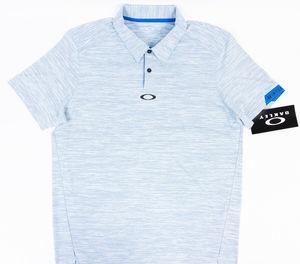 Oakley Hydrolix Gravity Golf Polo Ozone Blue Sz M